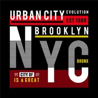 new york city urbain t-shirt design graphique typographie