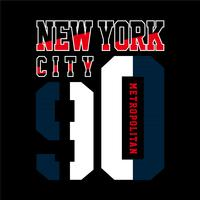 New York T-shirt design grafisk typografi