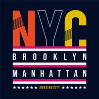New York typografi, t-shirt grafik