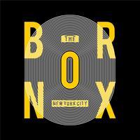 la ville de bronx ny cool typographie géniale tee design illustration vectorielle