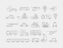 Transport Neon-Vektor-Icons