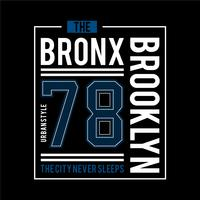 the bronx urban t shirt design graphic typography