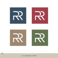 RR Buchstabe Logo Template Illustration Design