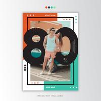 Summer sale social poster template