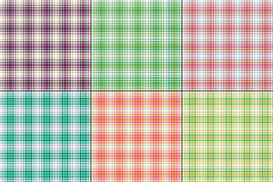 colorful vector plaids with white