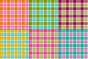 colorate madras vector plaid