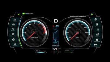 Tablero del tablero de coches vector ilustración eps 10 007