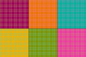 bright colors vector plaids