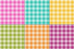 plaid di vettore ombre colorate