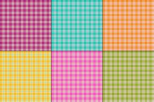 bright colors small vector plaids