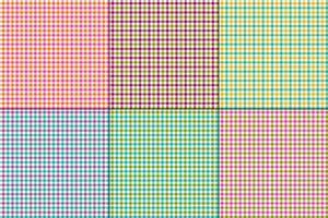 xadrezes de vetor de guingão colorido