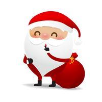 Glad julkaraktär Santa claus cartoon 008