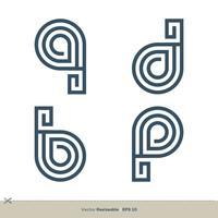 définir le modèle de logo de lettre QDBP