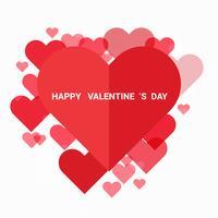 Illustration der Liebe und des Valentinstags, Papierkunstart.