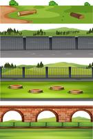 Set of diffrent nature scene vector