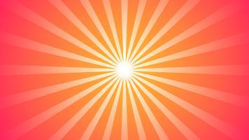Fondo rojo abstracto del gradiente con el efecto de Starburst. y elemento de rayos Sunburst. Forma de estrella en blanco. Forma geométrica circular circular.