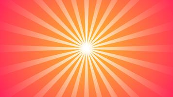 Abstracte rode gradiëntachtergrond met Starburst-effect. en Sunburst-stralenelement. starburst vorm op wit. Radiale cirkelvormige geometrische vorm.