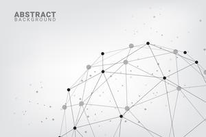Fondo abstracto de la tecnología. Fondo geométrico del vector. Conexiones de red global con puntos y líneas.