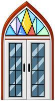 Janela com vidro de mosaico