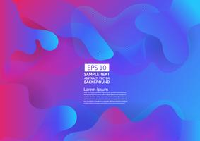 Colorful liquid and geometric abstract background. Fluid gradient shapes composition futuristic design