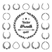 Wreath collection vector illustration on white background