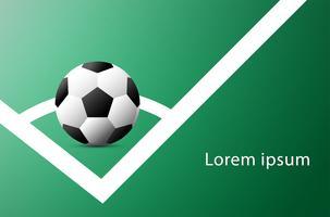 Voetbalbekerreclame. Aankondiging sportevenement. Plaats uw veldsjabloon Text.Soccer. vector illustration.world cup 2018