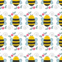 Illustration vectorielle motif abeille