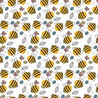 Hand Drawn Bee Pattern