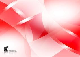 Fondo de vector abstracto geométrico de color rojo y blanco, diseño moderno