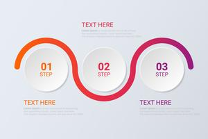 Three steps infographics. Workflow strategy or team work.