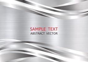 Fondo de vector abstracto geométrico color plata metálico con espacio de copia, diseño gráfico