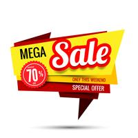 Sale text on red tag banner set 008 vector