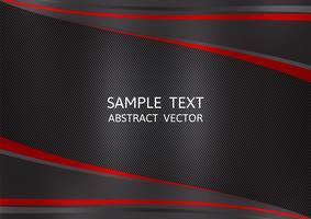 Fundo do vetor do sumário da cor preta e vermelha com espaço da cópia. Design gráfico
