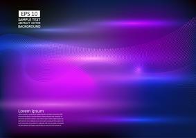 Projeto do fundo do sumário da onda de partícula. ilustração vetorial