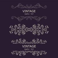Vintage Decorations Elements. Flourishes Calligraphic Ornaments and Frames. Retro Style Design Collection for Invitations, Banners, Posters, Placards, Badges
