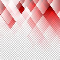 Geometric elements red color abstract vector with transparent background