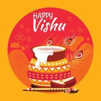 Illustration av Indisk stat Kerala Hindu Festival Vishu