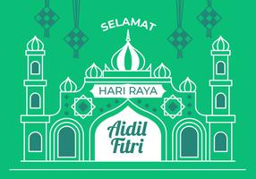 hari raya vektor illustration