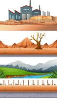 Set of different landscape