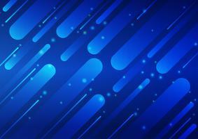 Couleur bleue géométrique et ligne fond abstrait Design Illustration vectorielle