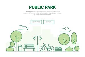 Landscape urban garden park concept. 