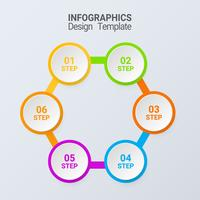 five steps infographics. Vector business