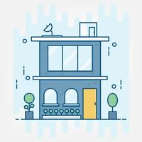 Flat line art style. design for business building idea theme website banner.