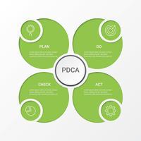 Business Infographic. Diagram med 4 steg, alternativ eller processer. Infographics mall för presentation.