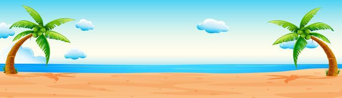 Cena com praia e oceano