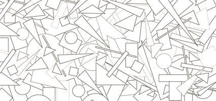 Abstract geometrisch vormpatroon. Chaotische stroom figuur achtergrond