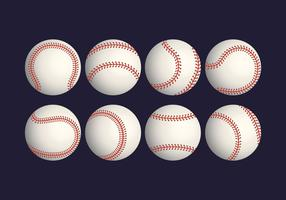 Realistische honkbal Vector Set