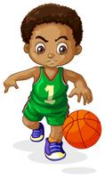 A male basketball player kid