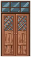Old wooden door in bad condition