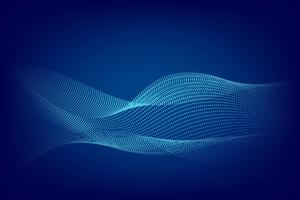 Linha azul projeto moderno da partícula do fundo do sumário da onda com espaço da cópia, ilustração do vetor para seu negócio e projeto da bandeira da Web.
